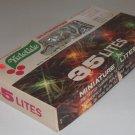 Vintage Miniature Christmas Lights - Yuletide 35 Clear Star Aluminum Reflector Lites NIB