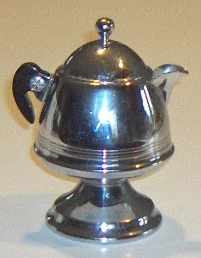 Vintage Chrome Bakelite Creamer from a United Co. Percolator Set