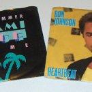 Vintage Dynamic Duo - Miami Vice Theme (MCA-52666) & Don Johnson Heartbeat (Epic-40366)