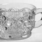 Vintage Smith Glass Co. Daisy & Button Footed Punch Cup Set of 4
