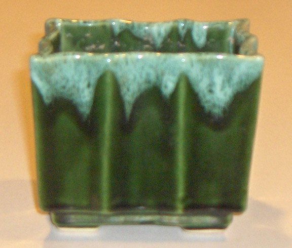 Vintage UPCo Green Drip Footed Planter - UPCo 035