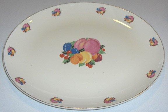 "Vintage W. S. George Cavitt - Shaw Country Gentlemen GEO38 Large Platter - 15 1/2"""