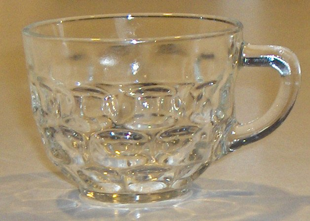 Vintage Federal Glass Jubilee Punch Cups - Set of 6