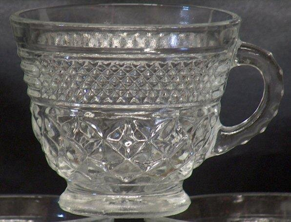 Anchor Hocking Glass Wexford Punch Cups - Set of 3
