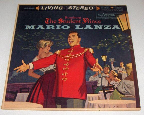 Mario Lanza Student Prince Living Stereo Record Album 1960