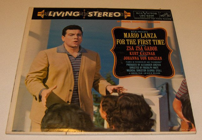 "Mario Lanza ""FOR THE FIRST TIME"" Stereo LSC-2338 LP 1959"