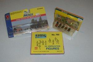 HO Scale Train Figures - Atlas Unpainted Figures, Noch Cemetery