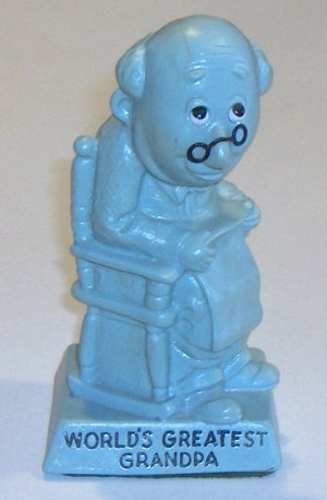 "Vintage W & R Berries Co. ""World's Greatest Grandpa"" Figurine circa 1970"