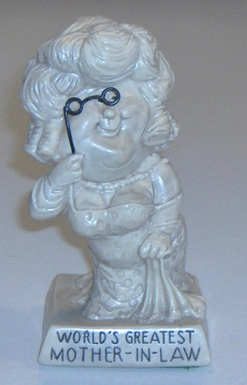 "Vintage W & R Berries Co. ""World's Greatest Mother-in-Law"" Figurine 1971"