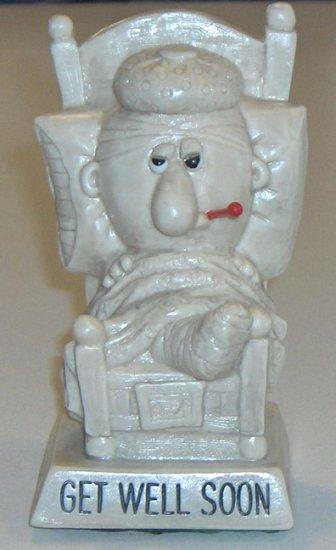 """Vintage W & R Berries Co. """"Get Well Soon"""" Figurine 1972"""