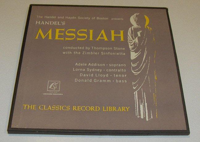 Vintage Classics Record Library - Handel's Messiah Boxed Record Set 1960s