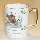 Carrigaline Pottery Co. Hunter Jumping Horse with Shamrocks Cup