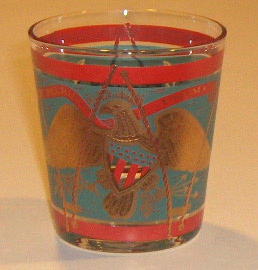 Vintage E Pluribus Unum Eagle, Shield, Drum Glass