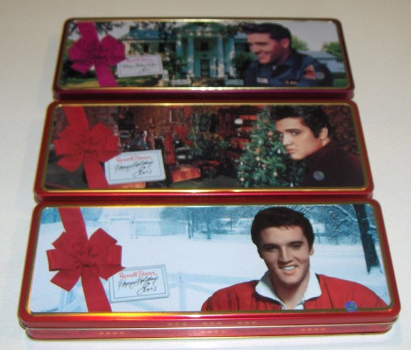 Vintage Russell Stover Elvis Holiday Tins - Set of 3  1998-99