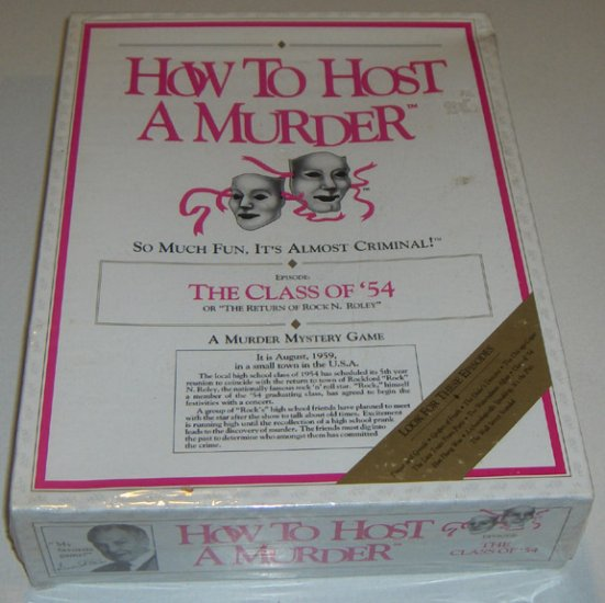 "MIB Vintage How to Host a Murder ""The Class of '54 - ISBN: 1878875035 - Sealed in Box"