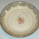 Vintage Paden City PCP182 Gold / Floral Center Coupe Soup Bowl plus Round Vegetable Bowl