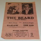 1967 Handbill -  The Beard by Michael McClure Wharf  Theatre
