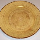 Vintage Blue Ridge Southern Potteries Brown Swirl on Yellow Dinner Plate