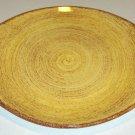 Vintage Blue Ridge Southern Potteries Brown Swirl on Yellow Handled Serving Platter