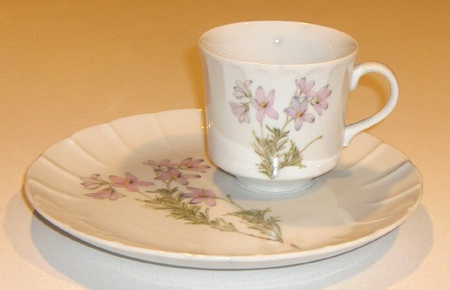 Vintage Lima Toscany Collection Snack Plate & Cup Set of 3 MIJ