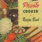 Vintage National Presto Cooker Recipe Book - Models 403, 404 & 406