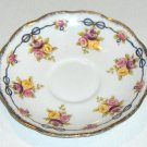 Royal Albert Crown China Floral and Bows Saucer