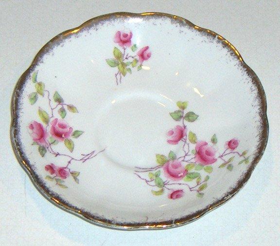 Royal Albert Crown China Rose Saucer