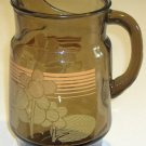 Vintage Smoke Glass Ice Lip 48 oz. Pitcher circa 1970s