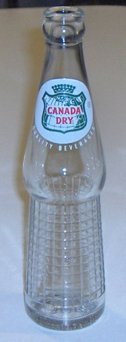 Vintage Canada Dry Clear Soda Bottles - Set of 3 circa 1960s