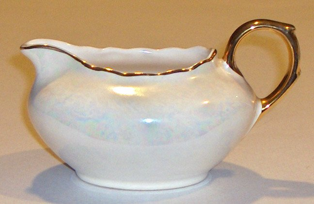 Vintage Pearl China Co. USA 22k Gold & Pearlized Lustre Creamer