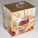 1995 Cornucopia Enamelware Fondue Set by Metro Marketing MIB