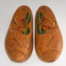 Vintage Handpainted Dutch Souvenir Wooden Shoes / Clogs w/ Storage Compartment - Holland