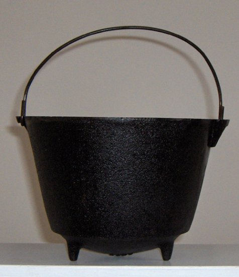 Vintage Cast Iron Footed Pot - Made in South Africa