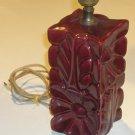 Vintage Art Deco Floral Ceramic Table / Boudoir Lamp