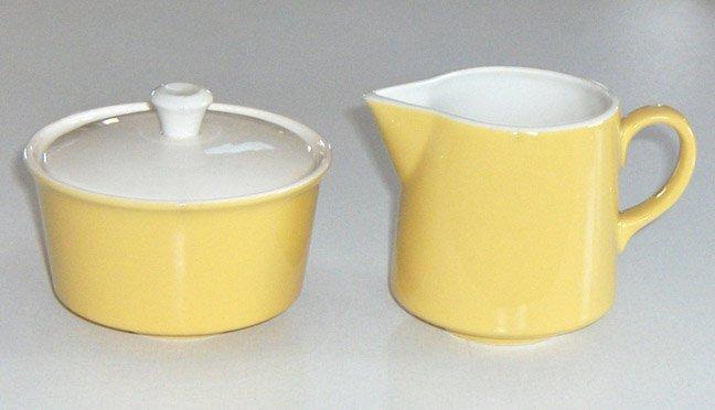 Vintage Royal China Ironstone Damsel Creamer & Sugar Bowl with Lid