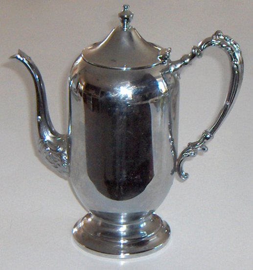 Vintage Danny Wilson Original Chrome Coffee / Tea Pot Server with Hinged Lid