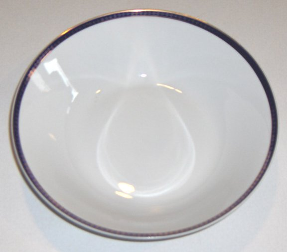 Vintage Cmielow Cobalt Blue Band with Gold Serving Bowl