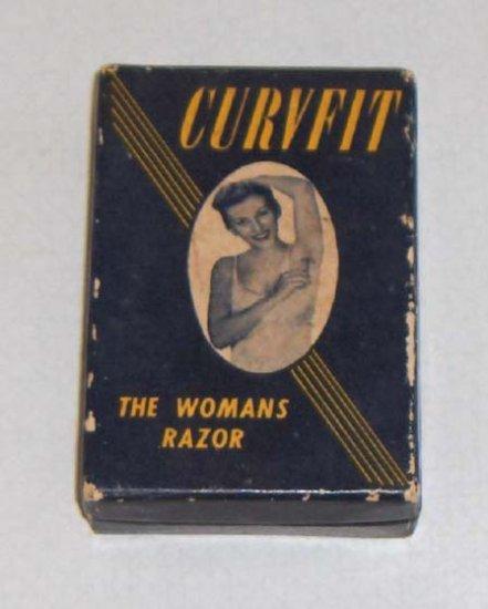 Vintage CURVFIT The Womans Razor, box, blade