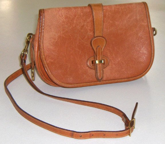 Authentic Dooney & Bourke Over & Under Full Flap Shoulder Bag Purse