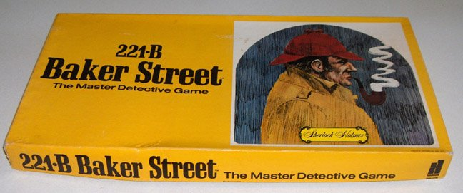 Vintage 221B Baker Street The Master Detective Game 1977