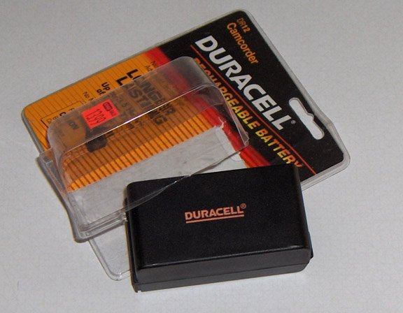 Duracell DR12 Nickel Metal Hydride Rechargeable Battery for Canon 8mm Camcorders