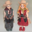 Vintage Carlson Dolls Cow Girl and Cowboy Set of 2 Mint