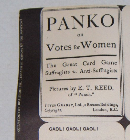 """PANKO"" Suffragists versus Anti-suffragists - Jackdaw Publications LTD Card Game"