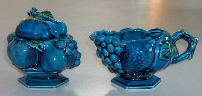Vintage 60's Inarco Mood Indigo Creamer and Sugar Bowl with Lid