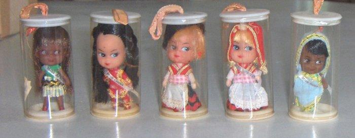 Vintage International Miss Set of 5 - Liddle Kiddle Klones MIP