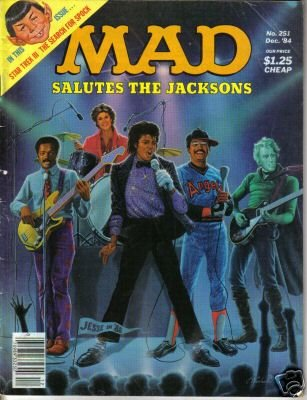 Mad Magazine December 1984 #251 Mad Salutes The Jacksons