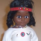 Vintage Native American Indian Vinyl Doll - Hong Kong 1960s