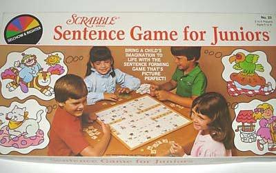 Vintage Scrabble Sentence Game for Juniors #23 1983