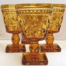 Indiana Glass Park Lane Amber 4 1/2 oz. Wine Glass - Set of 8