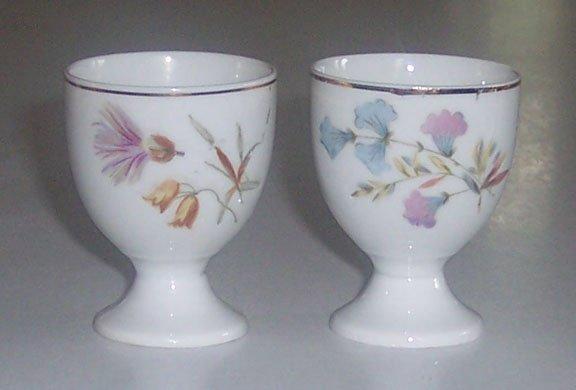 Vintage Floral Egg Cups - MIJ - Set of 2